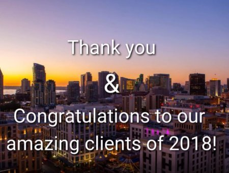 Thank You to All of Our Amazing Clients in 2018!